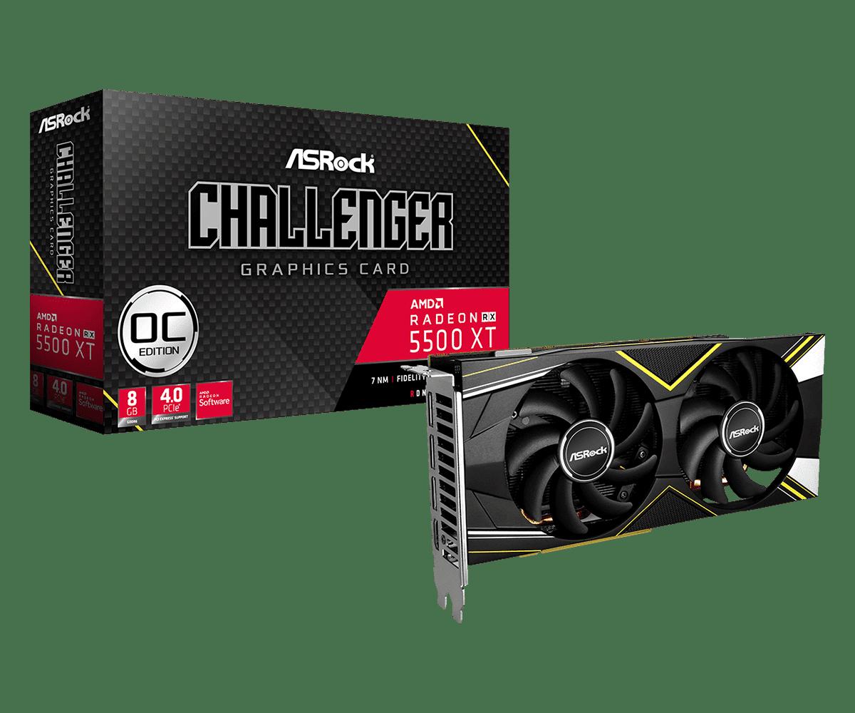 Radeon RX 5500 XT Challenger D 8G OCL1